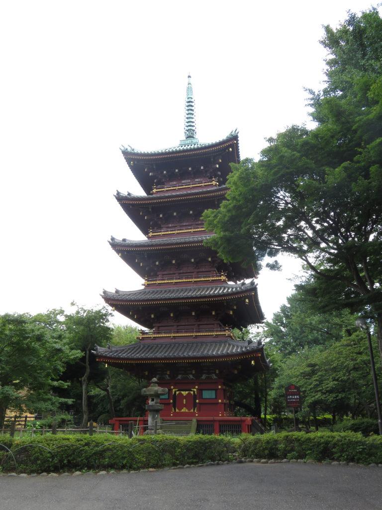 上野旧寛永寺五重塔