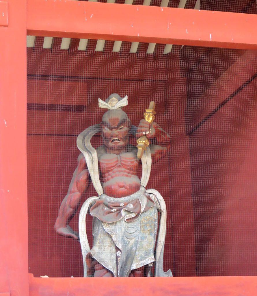 芝増上寺台徳院霊廟惣門仁王像