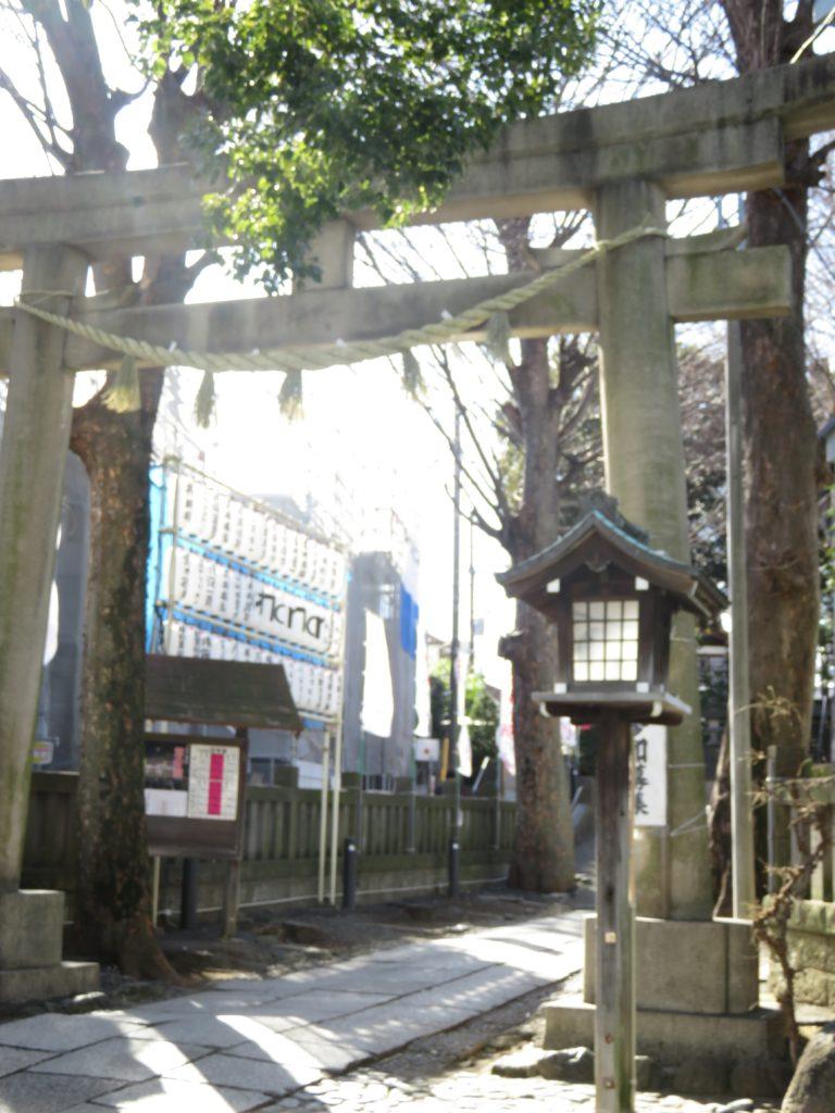 中目黒八幡神社鳥居