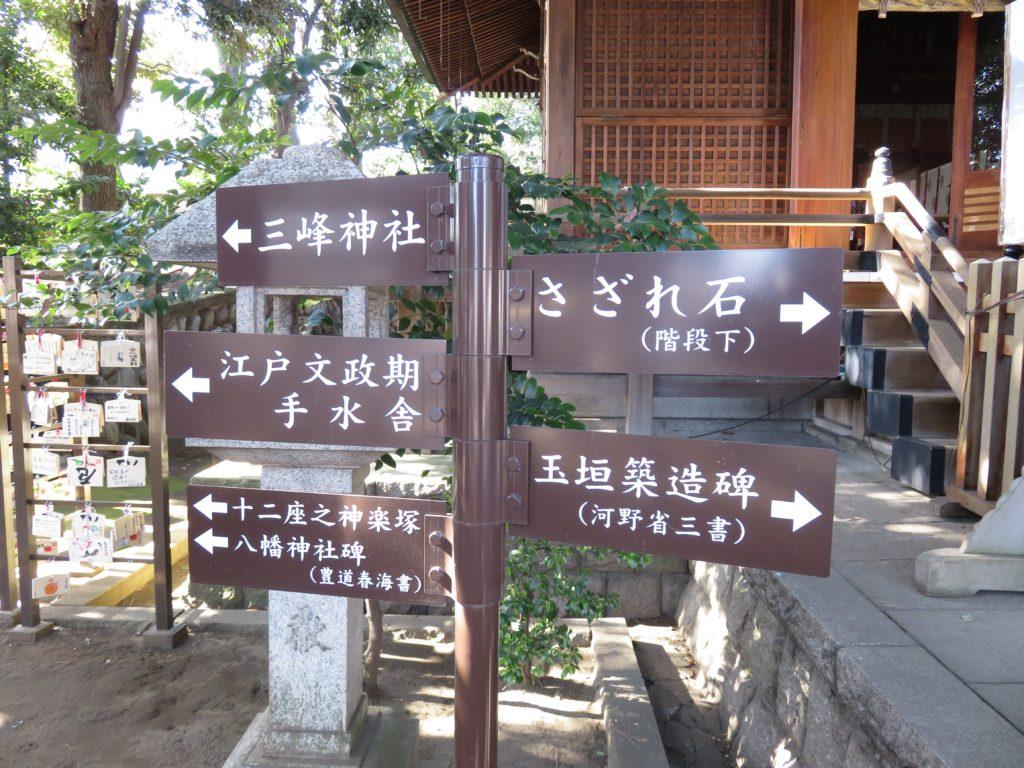 中目黒八幡神社境内案内板