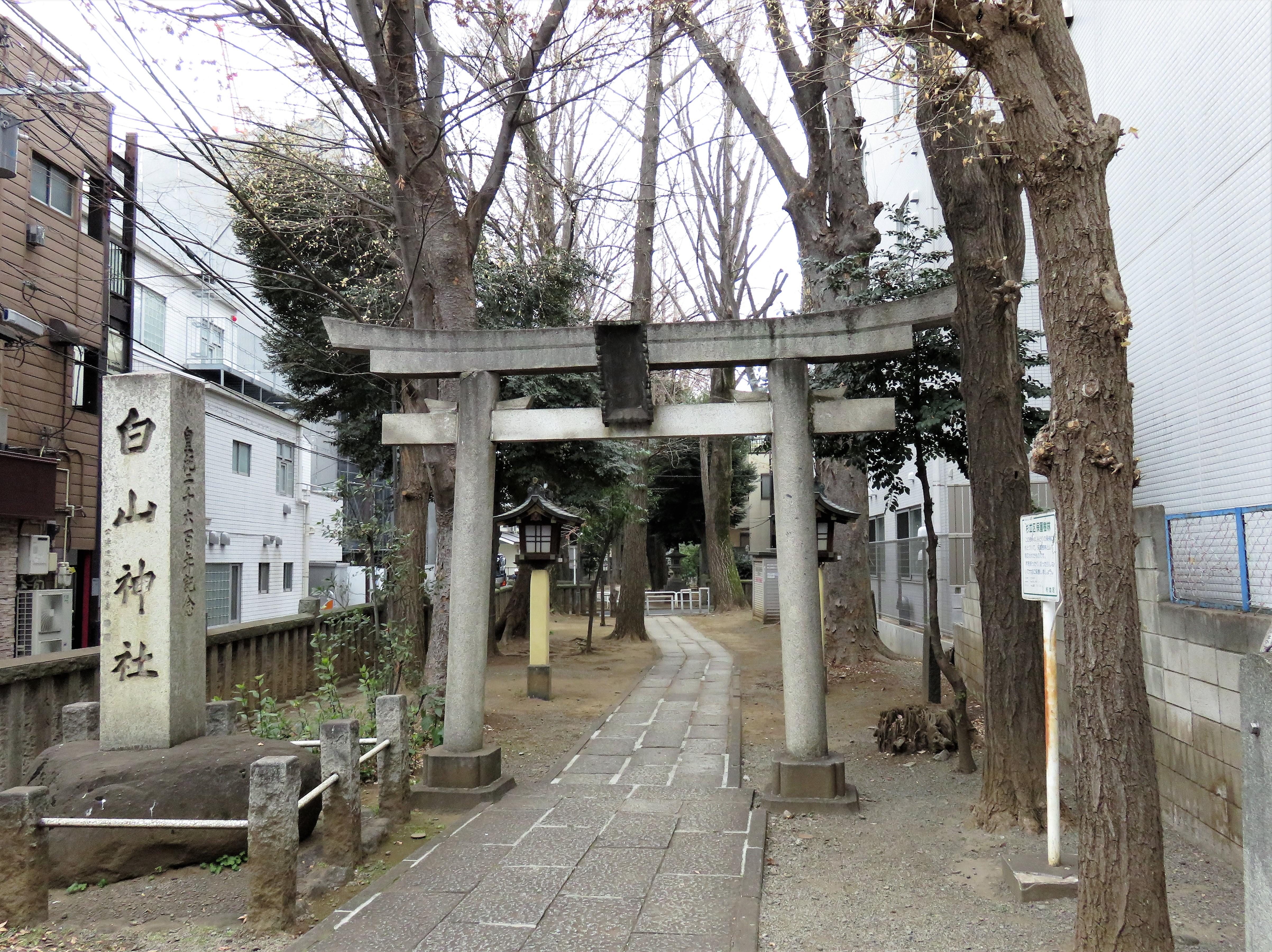荻窪白山神社一の鳥居