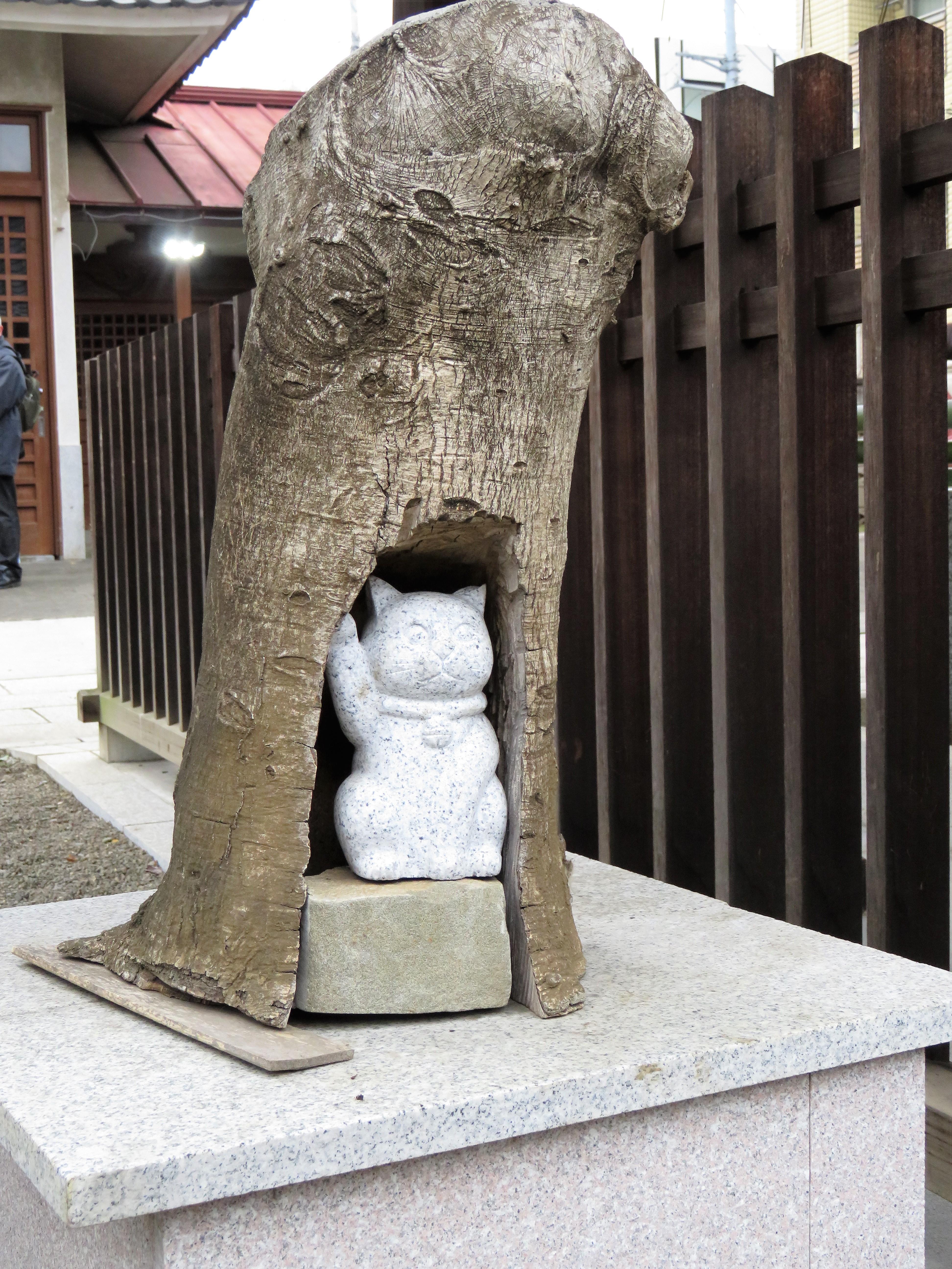 荻窪白山神社猫の像