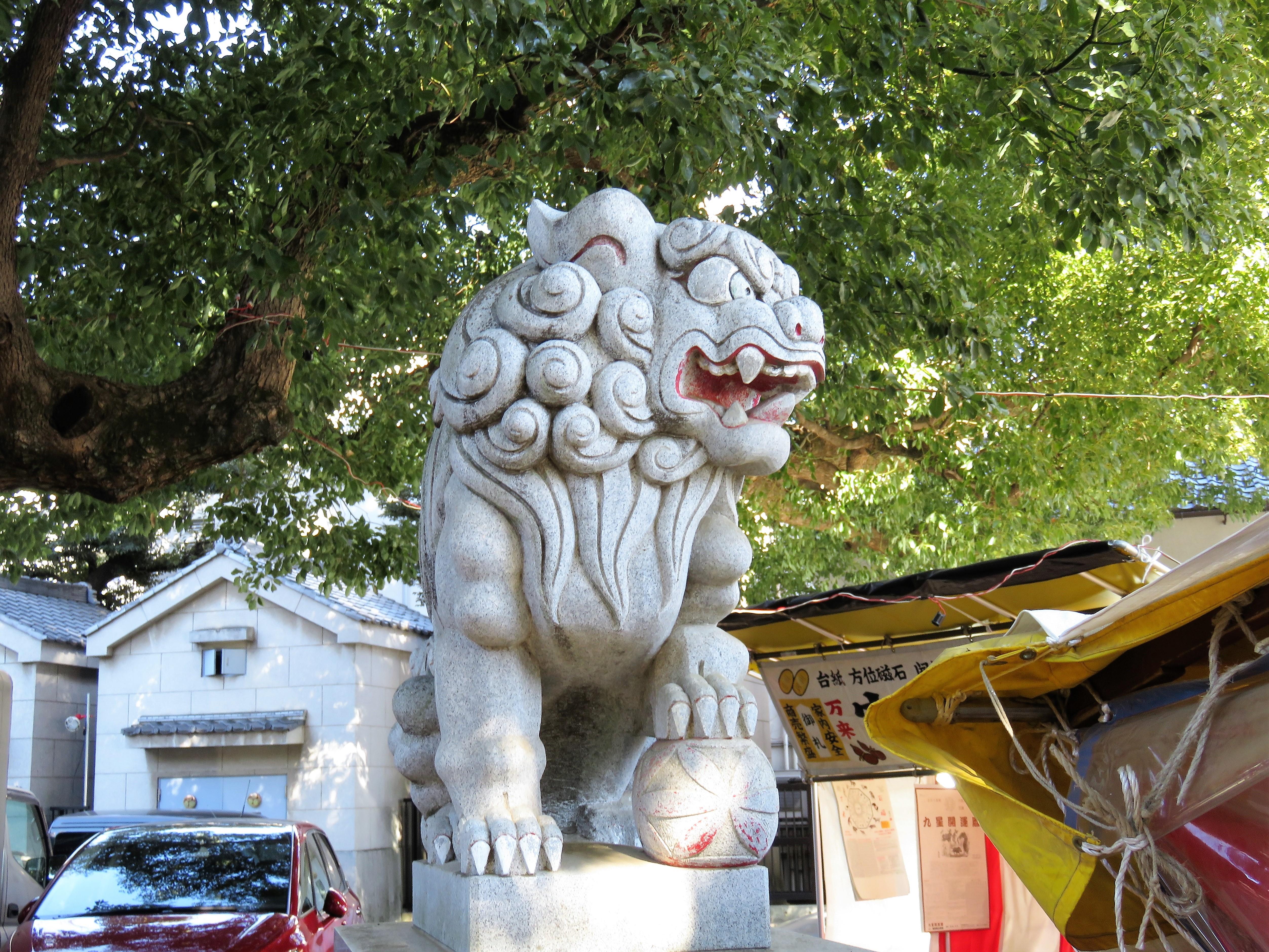 穴八幡宮狛犬