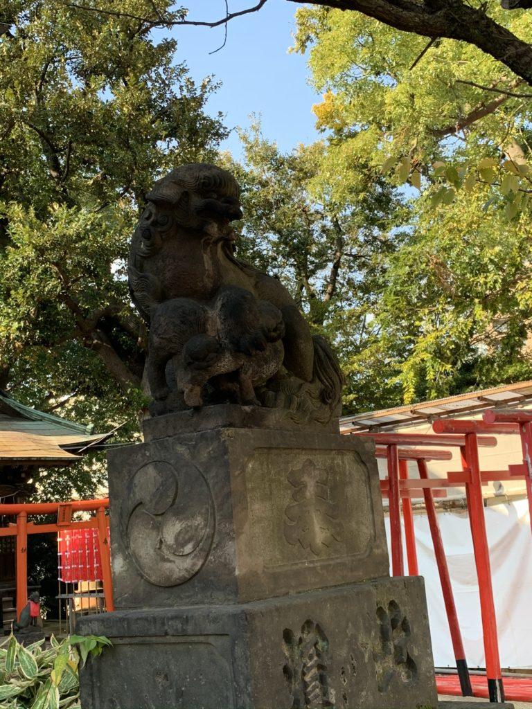 品川神社狛犬2
