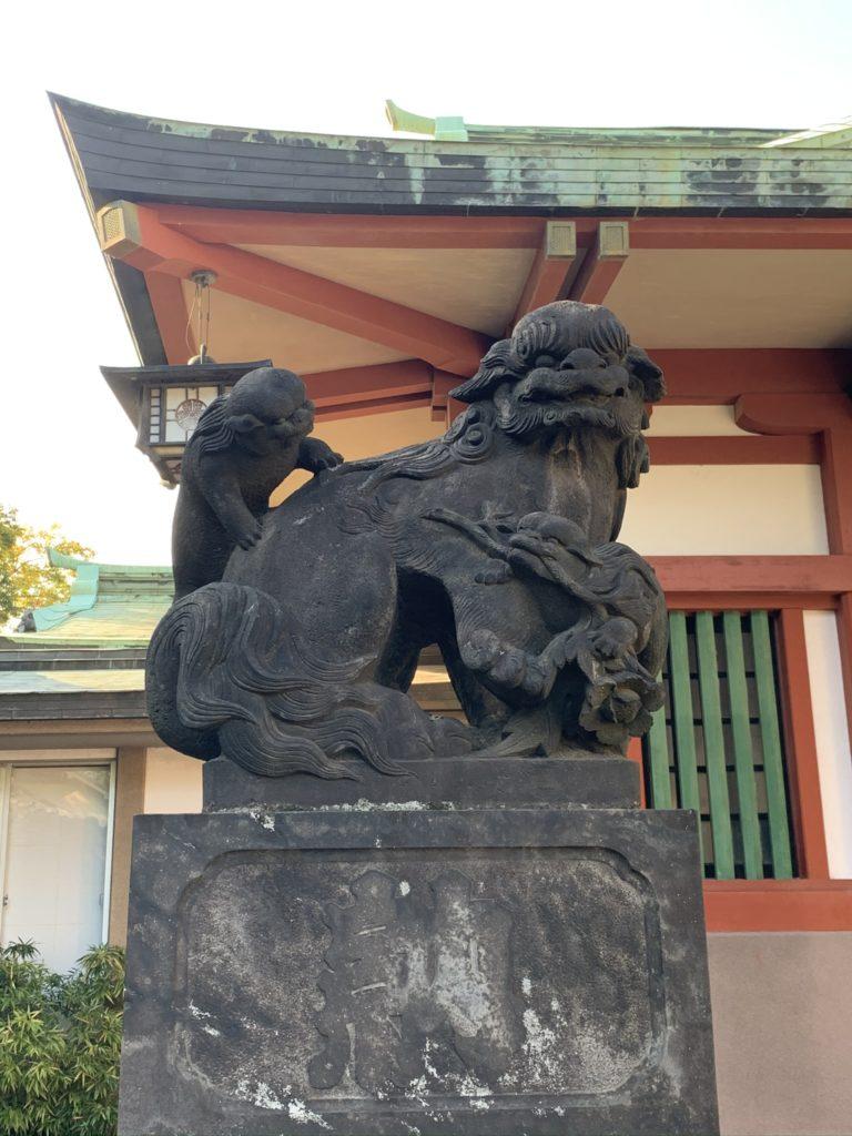 品川神社狛犬1