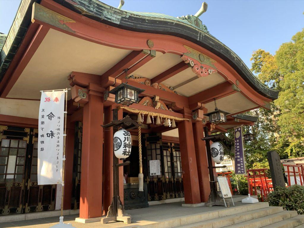 品川神社拝殿2
