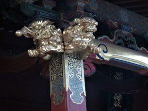 根津神社飾り獅子