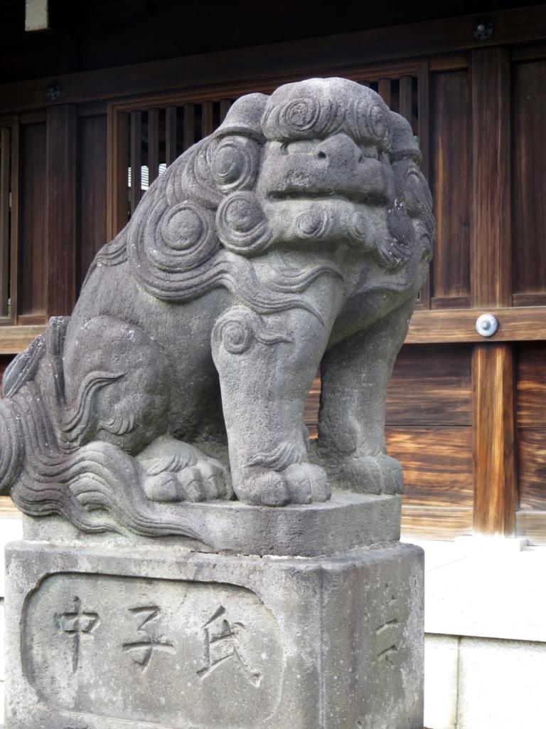 井草八幡神社狛犬左