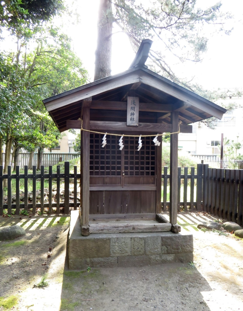 井草八幡宮富士塚3