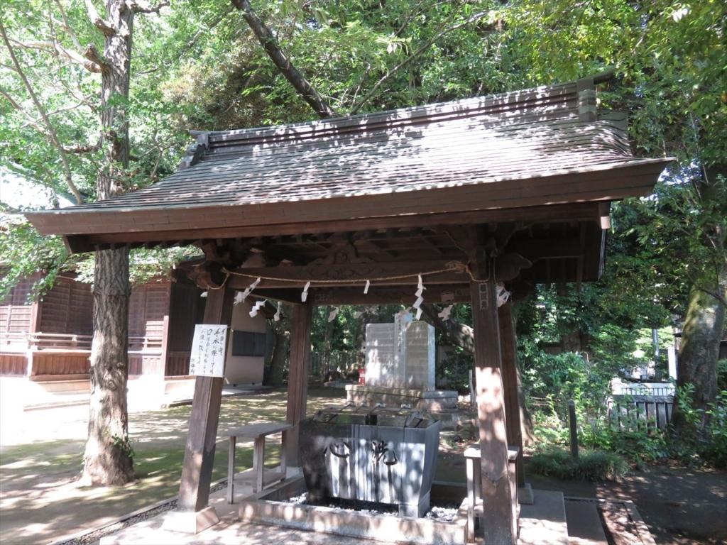 石神井氷川神社手水屋