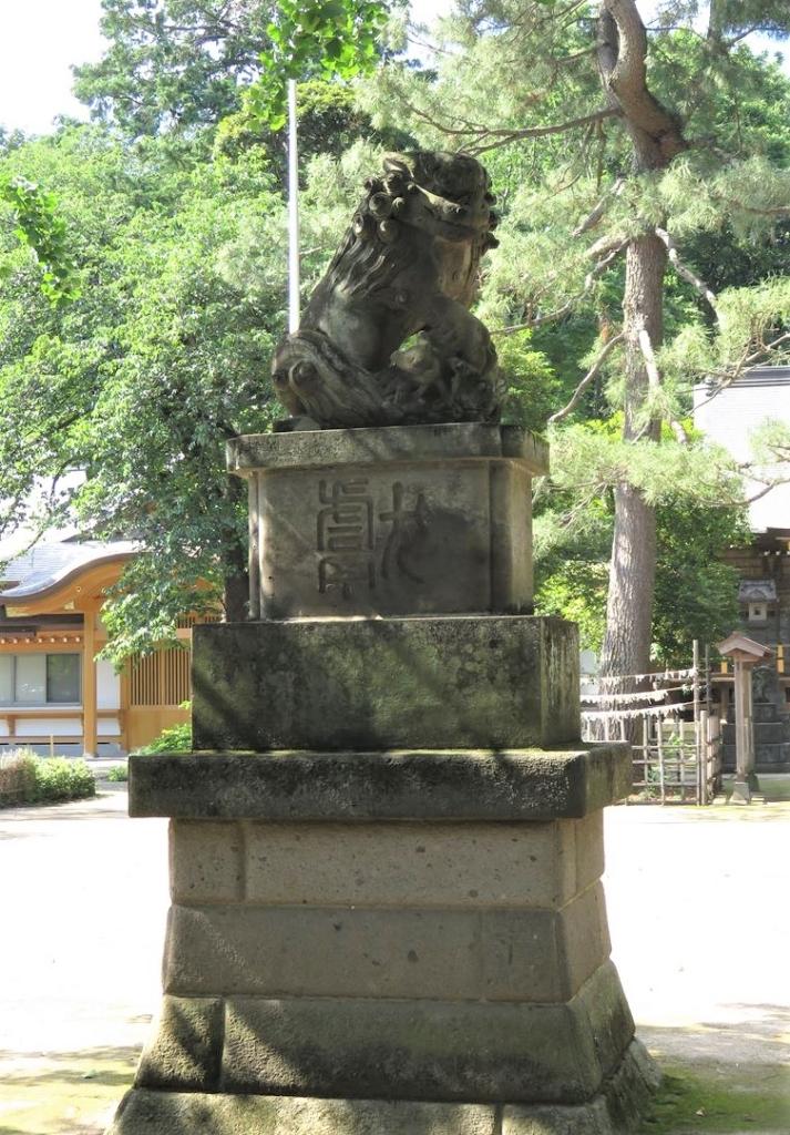 石神井氷川神社狛犬1