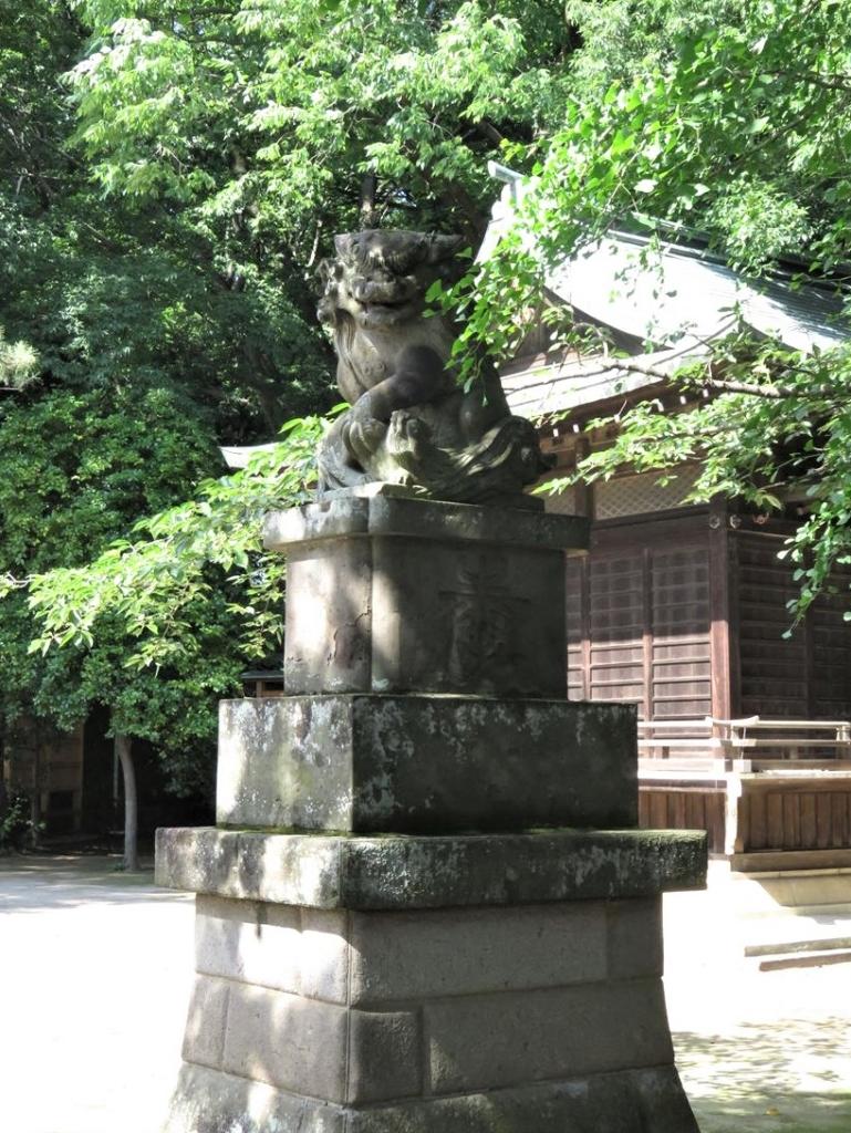 石神井氷川神社狛犬2
