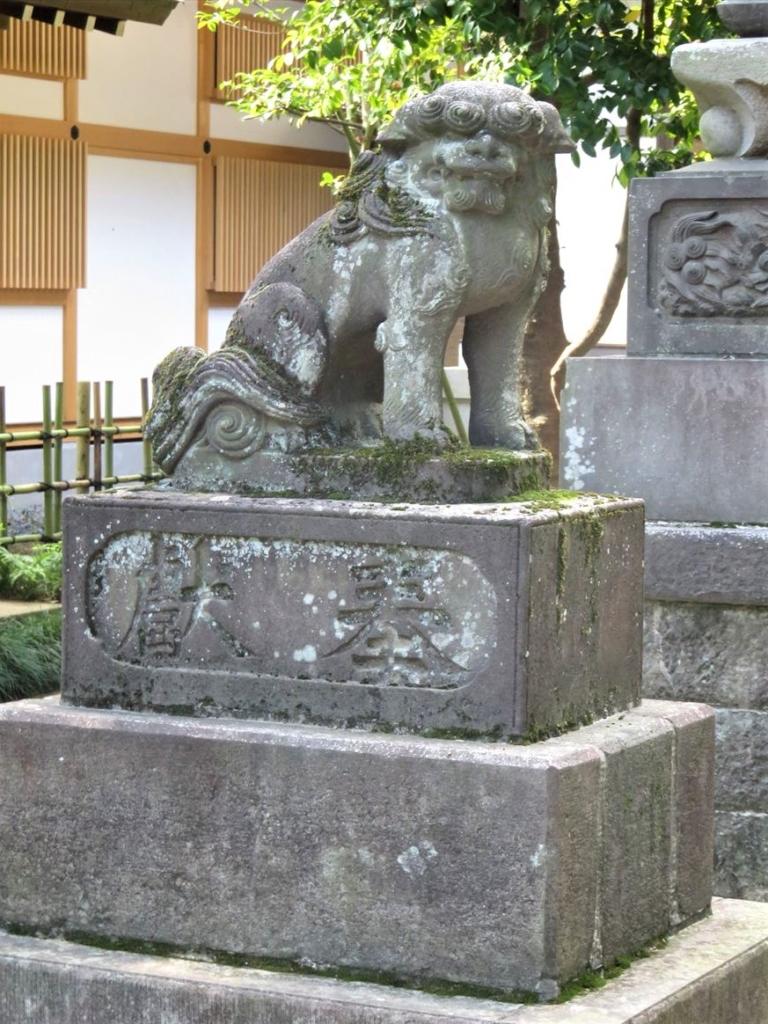 石神井氷川神社狛犬4