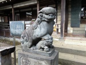 妙法寺二十三夜堂狛犬左