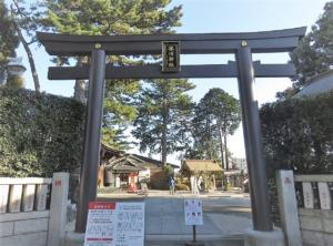 沼袋氷川神社東鳥居