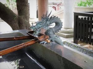 熊野神社手水舎龍口