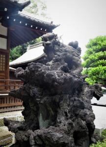 平塚神社狛犬右